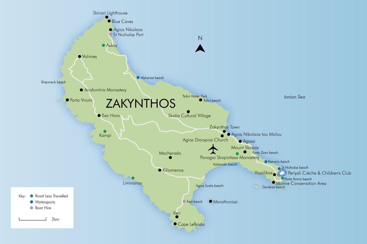 Luxury holidays in zakynthos simpson travel enlarge map gumiabroncs Choice Image